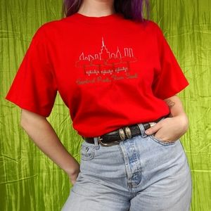 VTG 90s Central Park embroidered tshirt